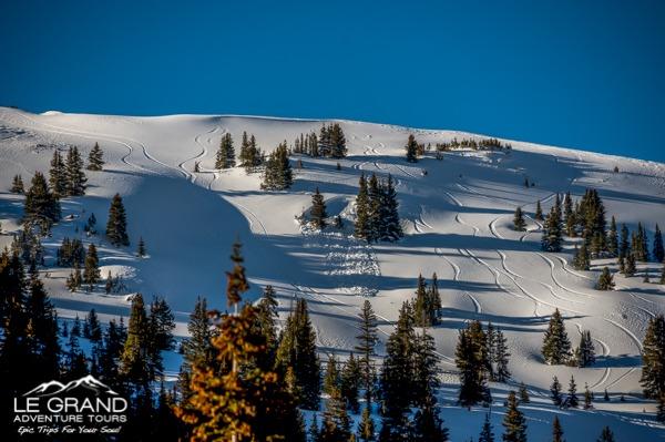 Colorado Winter Conditions, Le Grand Adventure Tours. Photo Credit: Hank DeVre'