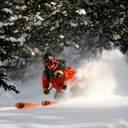 Drew Rouse Powder Skiing, Le Grand Adventure Tours. Photo Credit: Hank DeVre'