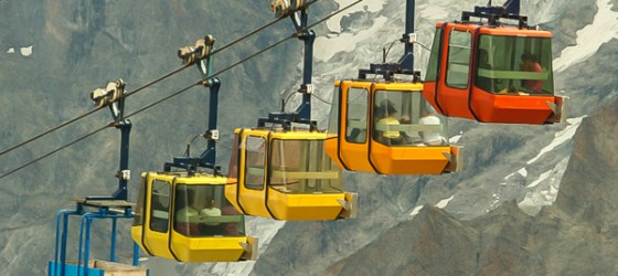 Aerial tramway La Grave France