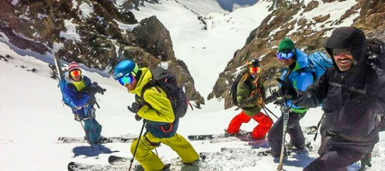 Group Skiing La Grave