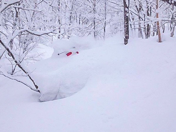 Deep powder in the Japanese Backcountry.