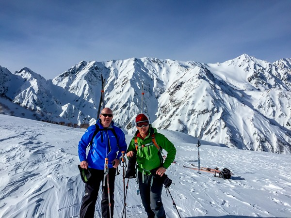Adventure skiing in the Japanese Alps