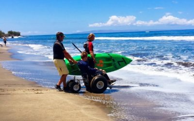 LGA Volunteering at the High Five the Wave Adaptive Surf Trip #4 in Maui