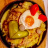 A Local Swiss Dish Of Rosti- Perfect After a Day of Skiing Powder