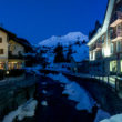 The town of Andermatt after skiing fresh powder- Le Grand Adventure Tours