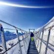 Cablewalk at the top of Engelberg Ski Resort Switzerland