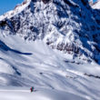 LGA Guides Jeff Robertson and Andy Knouse skiing the Steinberg in Engelberg Switzerland